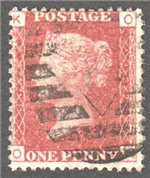 Great Britain Scott 33 Used Plate 122 - OK