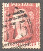 Great Britain Scott 33 Used Plate 133 - LI