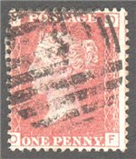 Great Britain Scott 33 Used Plate 100 - OF
