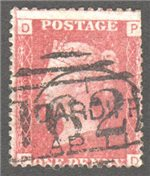 Great Britain Scott 33 Used Plate 99 - PD