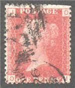 Great Britain Scott 33 Used Plate 90 - OI
