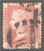 Great Britain Scott 33 Used Plate 124 - LD
