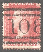 Great Britain Scott 33 Used Plate 145 - AJ