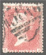 Great Britain Scott 33 Used Plate 192 - SK