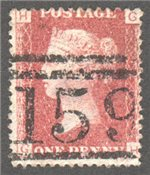 Great Britain Scott 33 Used Plate 148 - GH