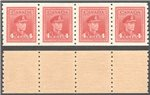 Canada Scott 267 MNH Strip VF (P)