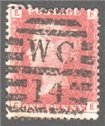 Great Britain Scott 33 Used Plate 78 - FE