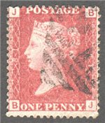 Great Britain Scott 33 Used Plate 81 - BJ