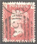 Great Britain Scott 33 Used Plate 93 - PG