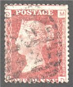 Great Britain Scott 33 Used Plate 112 - MD