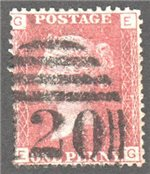 Great Britain Scott 33 Used Plate 113 - EG