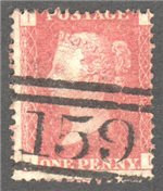 Great Britain Scott 33 Used Plate 116 - II