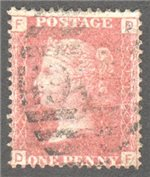 Great Britain Scott 33 Used Plate 118 - DF