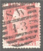 Great Britain Scott 33 Used Plate 118 - SC