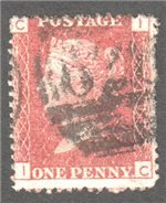 Great Britain Scott 33 Used Plate 119 - IC