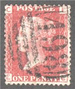 Great Britain Scott 33 Used Plate 147 - EC