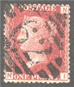 Great Britain Scott 33 Used Plate 147 - NI