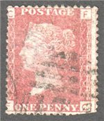Great Britain Scott 33 Used Plate 166 - FC