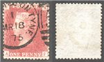 Great Britain Scott 33 Used Plate 173 - AF