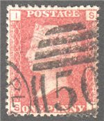 Great Britain Scott 33 Used Plate 174 - SI