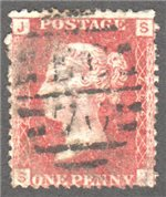 Great Britain Scott 33 Used Plate 204 - JJ