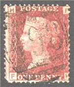 Great Britain Scott 33 Used Plate 206 - FH