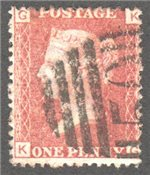 Great Britain Scott 33 Used Plate 206 - KG