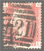 Great Britain Scott 33 Used Plate 212 - ME
