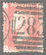 Great Britain Scott 33 Used Plate 220 - RJ