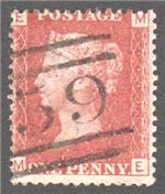 Great Britain Scott 33 Used Plate 116 - ME