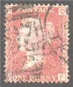 Great Britain Scott 33 Used Plate 206 - QF