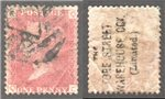 Great Britain Scott 33 Used Plate 177 - QC (Underprint)