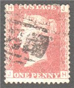 Great Britain Scott 33 Used Plate 74 - JH