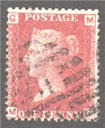Great Britain Scott 33 Used Plate 74 - MG