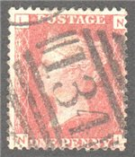 Great Britain Scott 33 Used Plate 102 - NL