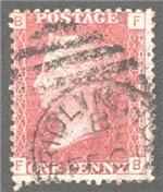 Great Britain Scott 33 Used Plate 108 - FB