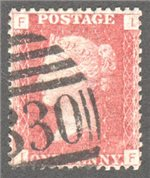 Great Britain Scott 33 Used Plate 148 - IF