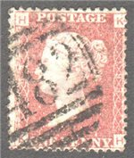 Great Britain Scott 33 Used Plate 193 - KH