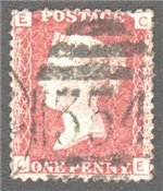 Great Britain Scott 33 Used Plate 201 - CE