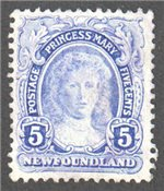 Newfoundland Scott 108 Used VF (P13.8x14)