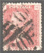 Great Britain Scott 33 Used Plate 106 - HF
