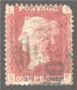 Great Britain Scott 33 Used Plate 107 - SE