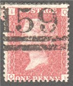Great Britain Scott 33 Used Plate 149 - QI