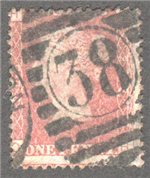 Great Britain Scott 33 Used Plate 208 - OH
