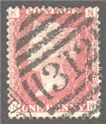 Great Britain Scott 33 Used Plate 113 - NK