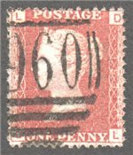 Great Britain Scott 33 Used Plate 193 - DL
