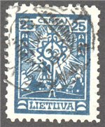 Lithuania Scott 168 Used
