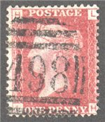 Great Britain Scott 33 Used Plate 147 - HL