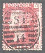 Great Britain Scott 33 Used Plate 138 - OB