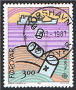 Faroe Islands Scott 143 Used